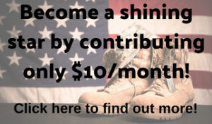Become a shining star by contributing only $10month!